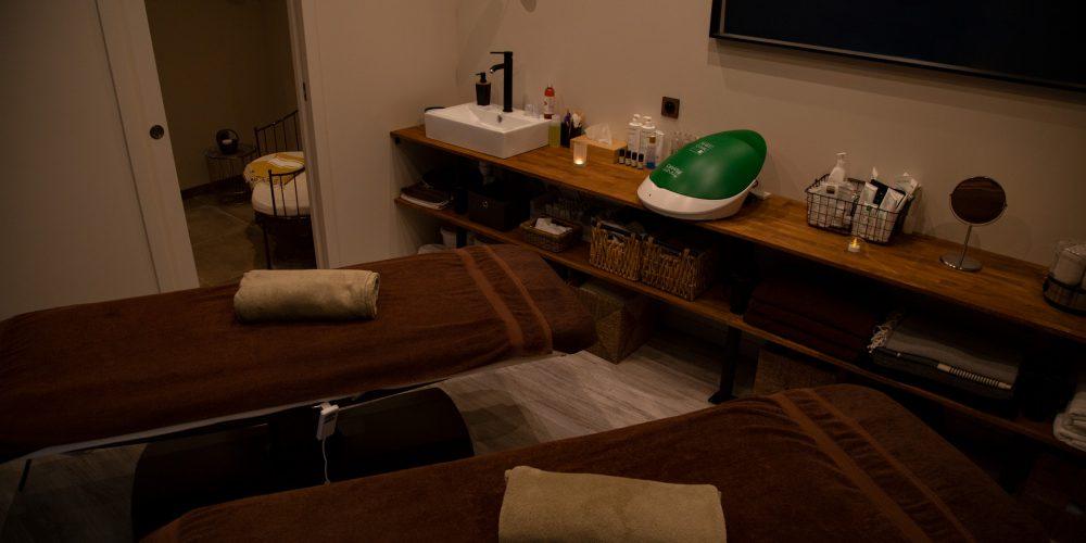 Cabine pour massages et soins en duo et en couple