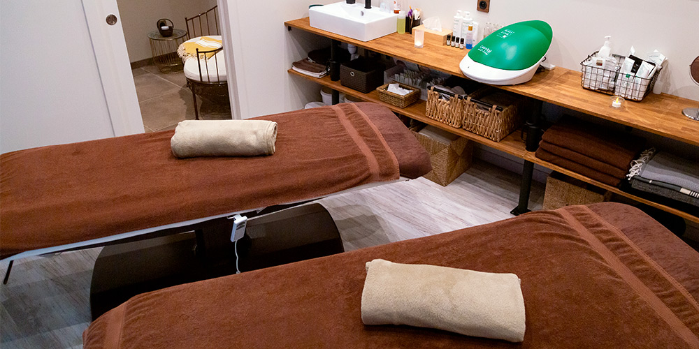 Cabine massage en duo à l'institut Douc'eur